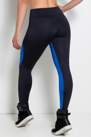 Calça Legging Duas Cores (Preto / Azul Royal) | Ref: F29-003