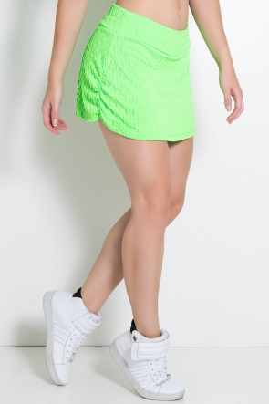 Short Saia Liz Bolha Fluor (Verde Limão Fluor) | Ref: KS-F295-003