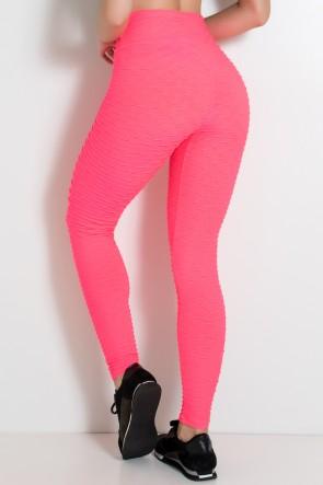 Legging Tecido Bolha Fluor (Rosa Fluor) | Ref:F300-001