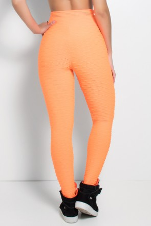 Legging Tecido Bolha Fluor (Laranja Fluor) | Ref:F300-003