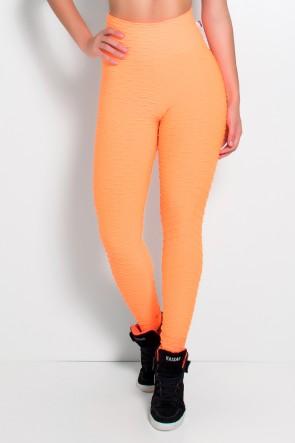 Legging Tecido Bolha Fluor (Laranja Fluor) | Ref: KS-F300-003
