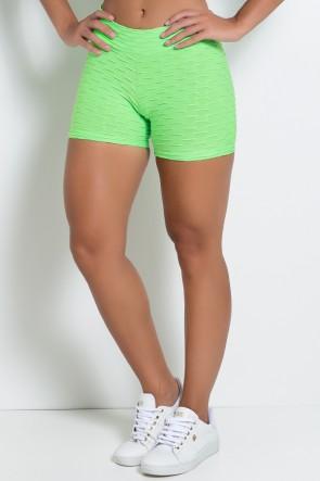 Shortinho Tecido Bolha Fluor (Verde Limão Fluor) | Ref: KS-F304 -002