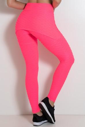 Legging com Tapa Bumbum Bolha Fluor (Rosa Fluor) | Ref: KS-F302-001