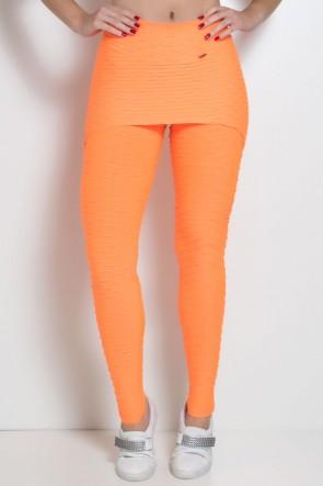 Legging com Tapa Bumbum Bolha Fluor (Laranja Fluor) | Ref: KS-F302-003