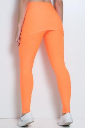 Legging com Tapa Bumbum Bolha Fluor (Laranja Fluor) | Ref: F302-003