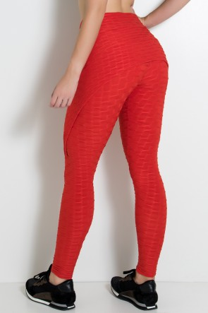 Calça Aranha Tecido Bolha (Vermelho) | Ref: KS-F309-007