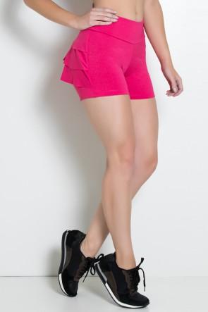 Shortinho Suplex com Babado (Rosa Pink) | Ref: KS-F312-007