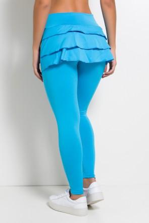 Calça com Babado (Azul Celeste)   Ref:F313-004