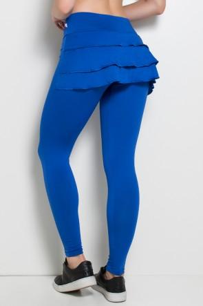 Calça com Babado (Azul Royal)   Ref: F313-003