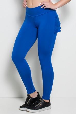 Calça com Babado (Azul Royal)   Ref: KS-F313-003