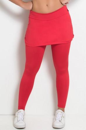 Calça Legging Lisa com Saia Franzida | Ref: KS-F315-004