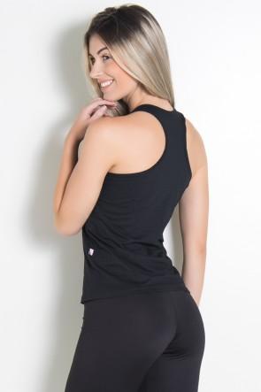 Camiseta de Malha Nadador (Contém whey protein) (Preto) | Ref: KS-F317-001
