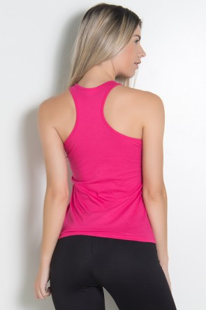 Camiseta de Malha Nadador (Look dont touch) (Rosa Pink) | Ref: KS-F321-004