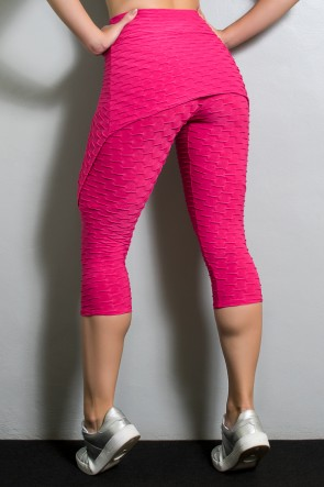 Corsário Aranha Tecido Bolha (Rosa Pink) | KS-F346-001