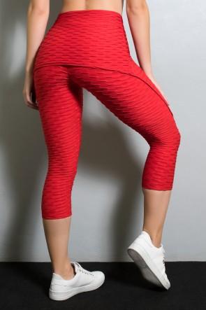 Corsário Aranha Tecido Bolha (Vermelho) | KS-F346-005