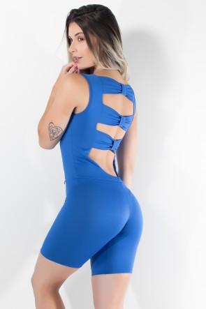 Macaquinho Laços Liso (Azul Royal) | Ref.: KS-F347-002