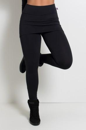 Legging com Tapa Bumbum e Pezinho (Preto) | Ref: KS-F35-002