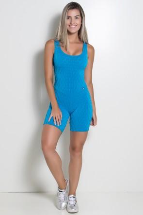 Macaquinho Angelica Tecido Bolha (Azul Celeste) | Ref: KS-F386-002