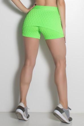 Short Saia Paola Bolha Fluor (Verde Limão Fluor) | Ref: KS-F417-002