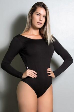 Body Luana Costa Aberta (Preto) | Ref: KS-F418-005