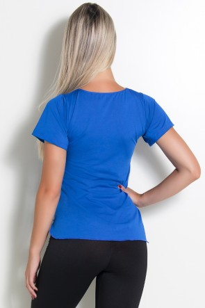Camisa Paloma Microlight I Work Out (Azul Royal) | Ref: KS-F430-001