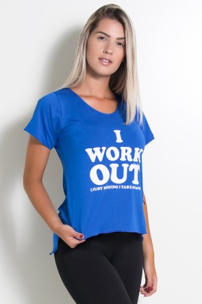 Camisa Microlight I Work Out (Azul Royal) | Ref: KS-F430-001