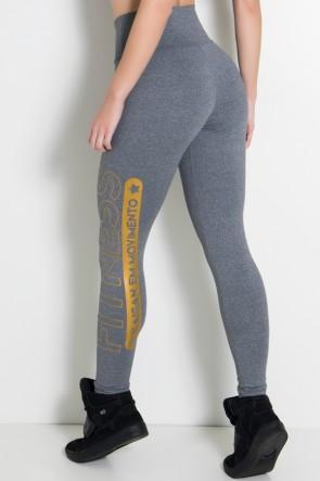 Legging Mescla Cós Alto (Fitness Kaisan em Movimento) (Mescla / Dourado) | Ref: KS-F459-003