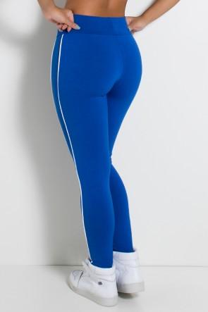 Legging Khloe com Vivo (Azul Royal / Branco) | Ref: KS-F463-004