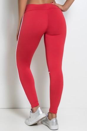 Legging Khloe com Vivo (Vermelho  / Branco) | Ref: KS-F463-007