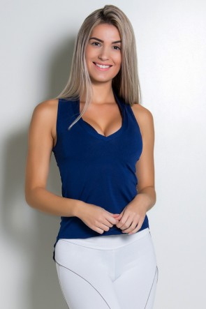 Camiseta Dry Fit Lisa (Azul Marinho) | Ref: KS-F467-003