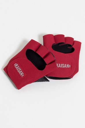 Luva para Academia Unissex (Vermelho) | Neoprene | Logo Refletiva Kaisan | (O Par) | Ref: KS-F48-007