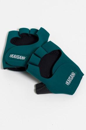 Luva para Academia Unissex (Verde Musgo) | Neoprene | Logo Refletiva Kaisan | (O Par) | Ref: KS-F48-008