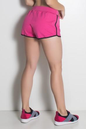 Short de Corrida Run (Rosa Pink / Preto) | Ref: KS-F489-005