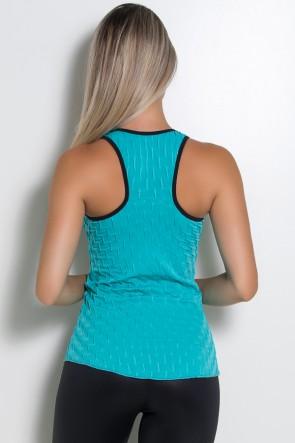 Camiseta Denise Tecido Bolha (Verde Esmeralda) | Ref: KS-F501-001