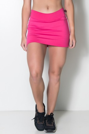 Short Saia Taissa (Rosa Pink / Branco) | Ref: KS-F504-001