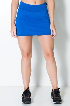 Short Saia Taissa (Azul Royal / Branco) | Ref: KS-F504-004
