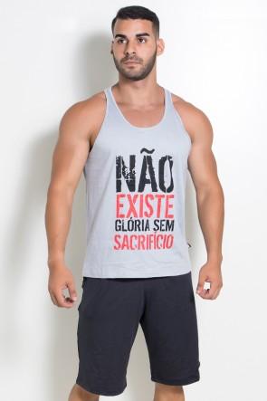Camiseta Regata (Não Existe Glória Sem Sacrifício) (Cinza) | Ref: KS-F519-004