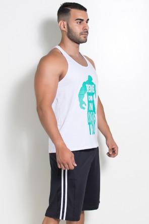 Camiseta Regata  (Treine Como Um Monstro) (Branco) | Ref: KS-F521-001