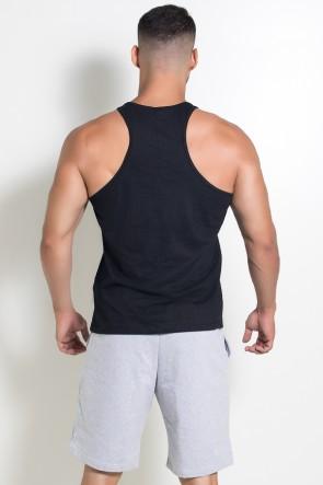 Camiseta Regata  (Treine Como Um Monstro) (Preto) | Ref: KS-F521-002