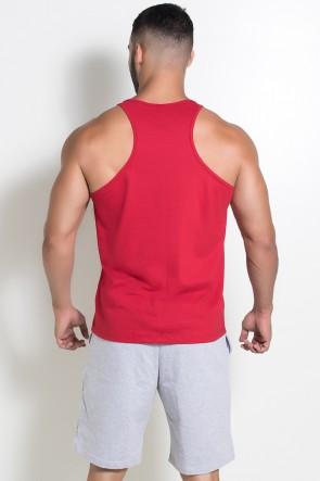 Camiseta Regata  (Treine Como Um Monstro) (Vermelho) | Ref: KS-F521-003
