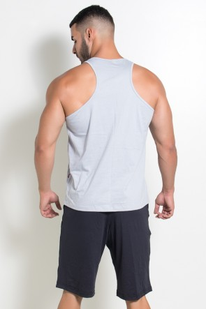 Camiseta Regata (No Pain No Gain) (Cinza) | Ref: KS-F524-004