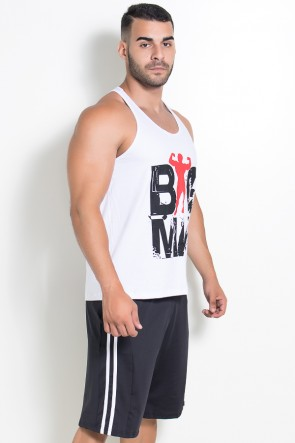 Camiseta Regata (Big Man) (Branco) | Ref: KS-F526-001