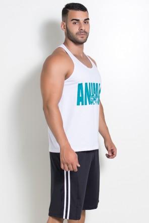 Camiseta Regata (Animal) (Branco) | Ref: KS-F527-001