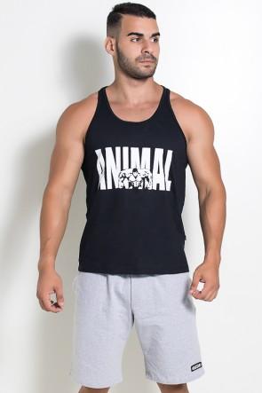 Camiseta Regata (Animal) (Preto) | Ref: KS-F527-002