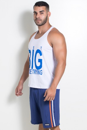 Camiseta Regata (Get Big Or Die Trying) (Branco) | Ref: KS-F529-001