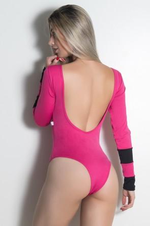 Body Ticiane Liso (Rosa Pink / Preto) | Ref: KS-F530-003