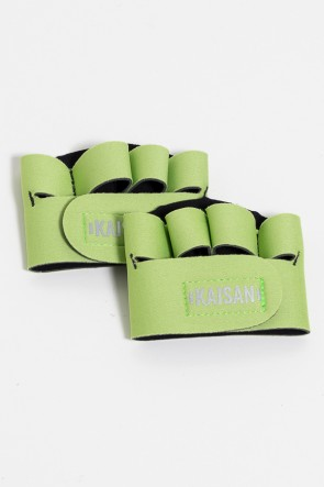 Caleira para Academia Unissex (Verde Claro) | Neoprene | Logo Refletiva Kaisan | (O Par) | Ref: KS-F55-009