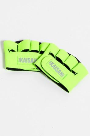 Caleira para Academia Unissex (Verde Limão) | Neoprene | Logo Refletiva Kaisan | (O Par) | Ref: KS-F55-003