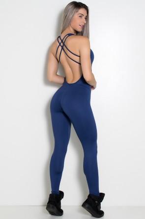 Macacão Fitness Suelene (Azul Marinho) | Ref: KS-F571-005