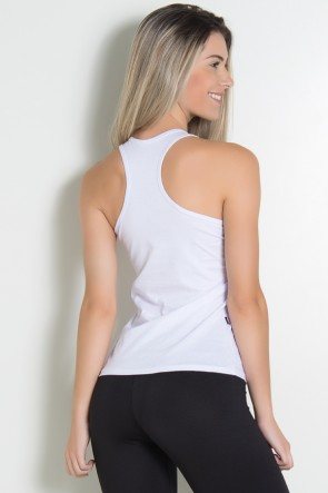 Camiseta de Malha Nadador (Love Fitness) (Branco) | Ref: KS-F576-002